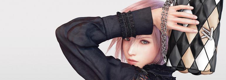 Lightning aus Final Fantasy XIII modelt für Louis Vuitton