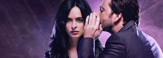 Jessica Jones und Kilgrave aus der gleichnamigen Marvel-Serie auf Netflix.