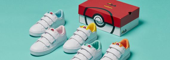 Ein Blick auf die Fila x Pokémon Kollektion.